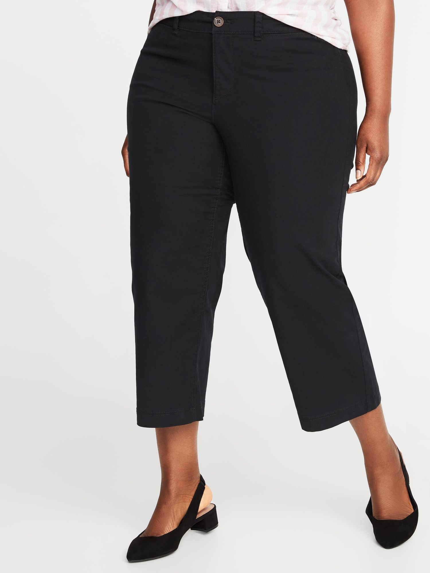 683582f778f High-Rise Secret-Slim Pockets Plus-Size Wide-Leg Chinos