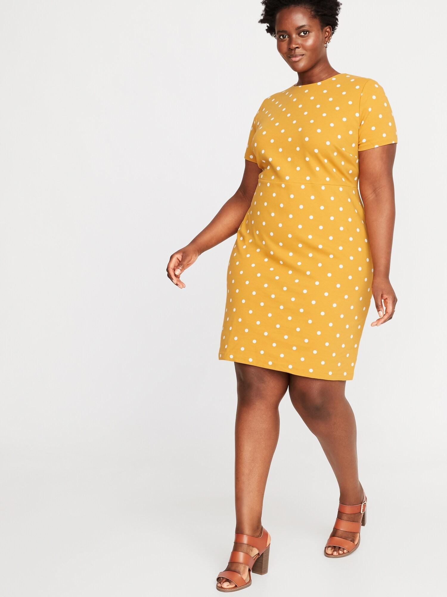 Printed Ponte-Knit Plus-Size Sheath Dress | Old Navy