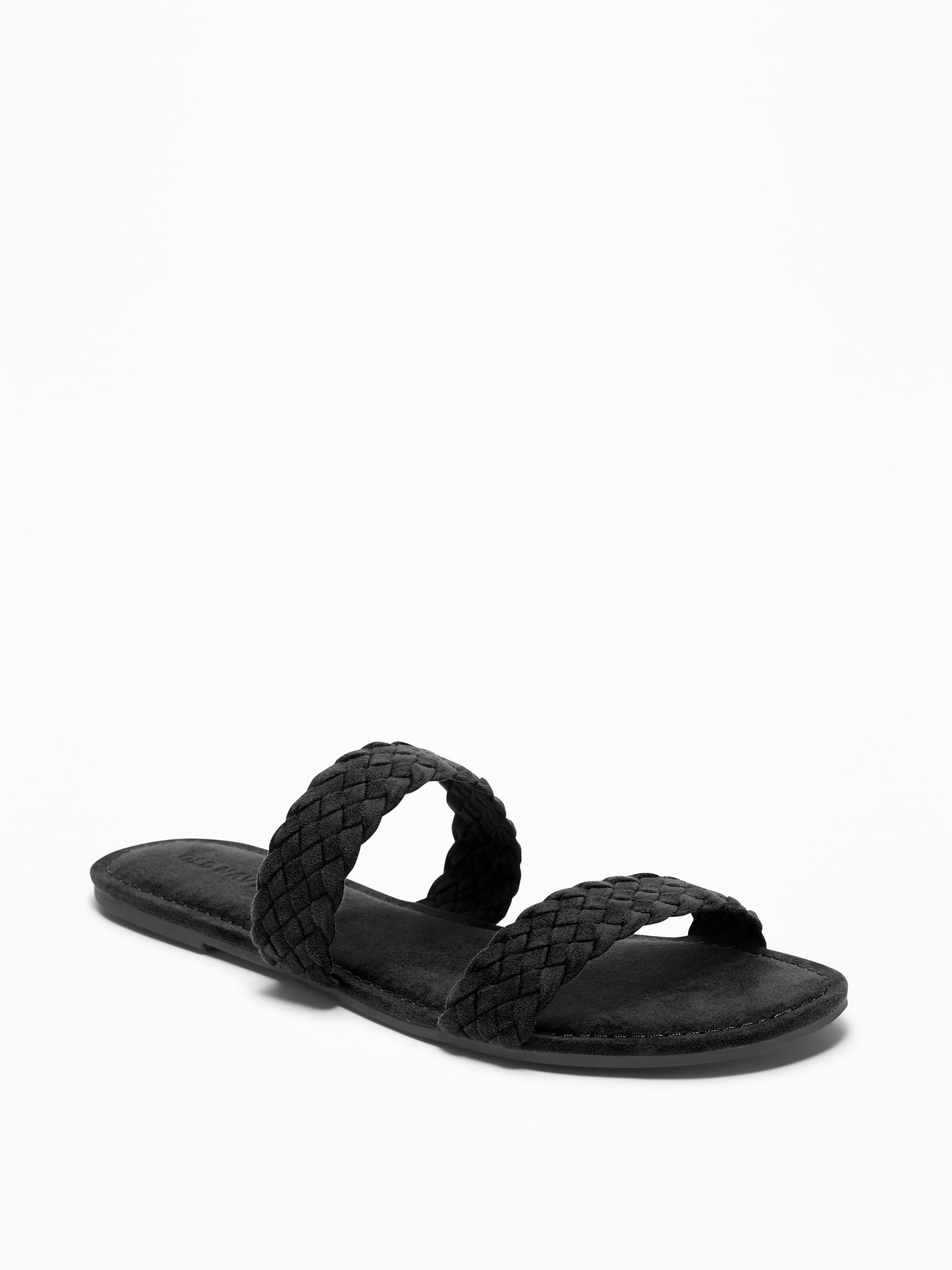 8a24e9824 Braided Faux-Suede Slide Sandals for Women