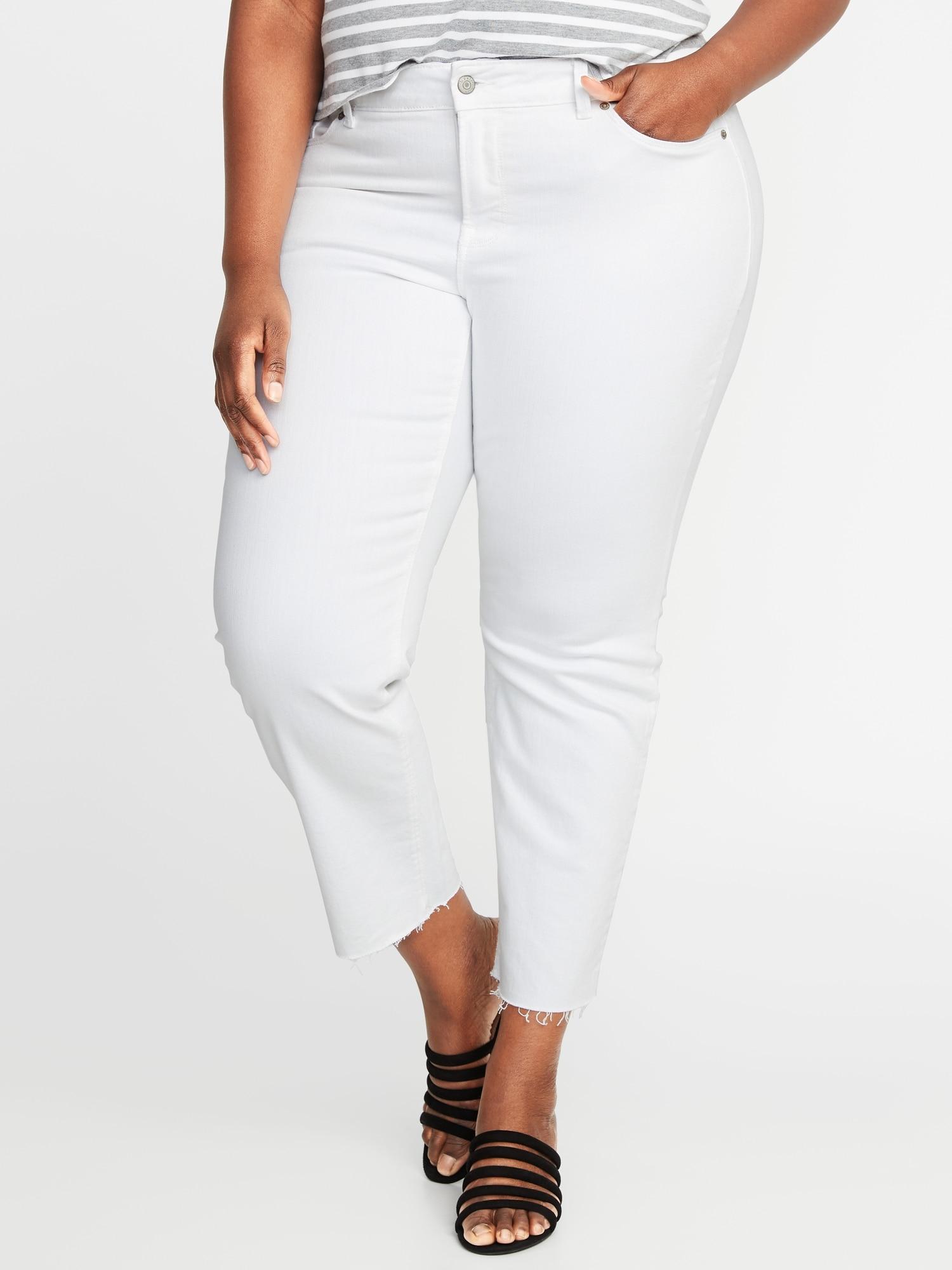 c27ccd2d349 High-Rise Secret-Slim Pockets + Waistband Power Slim Straight Plus-Size  Jeans