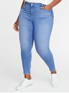 High-Waisted Secret-Slim Pockets Plus-Size Rockstar Cropped Super Skinny Jeans