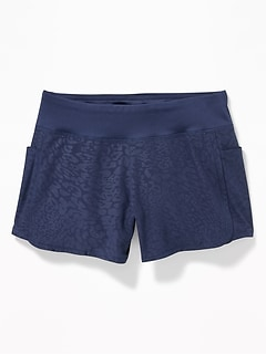 Knit-Waist 4-Way-Stretch Run Shorts For Girls