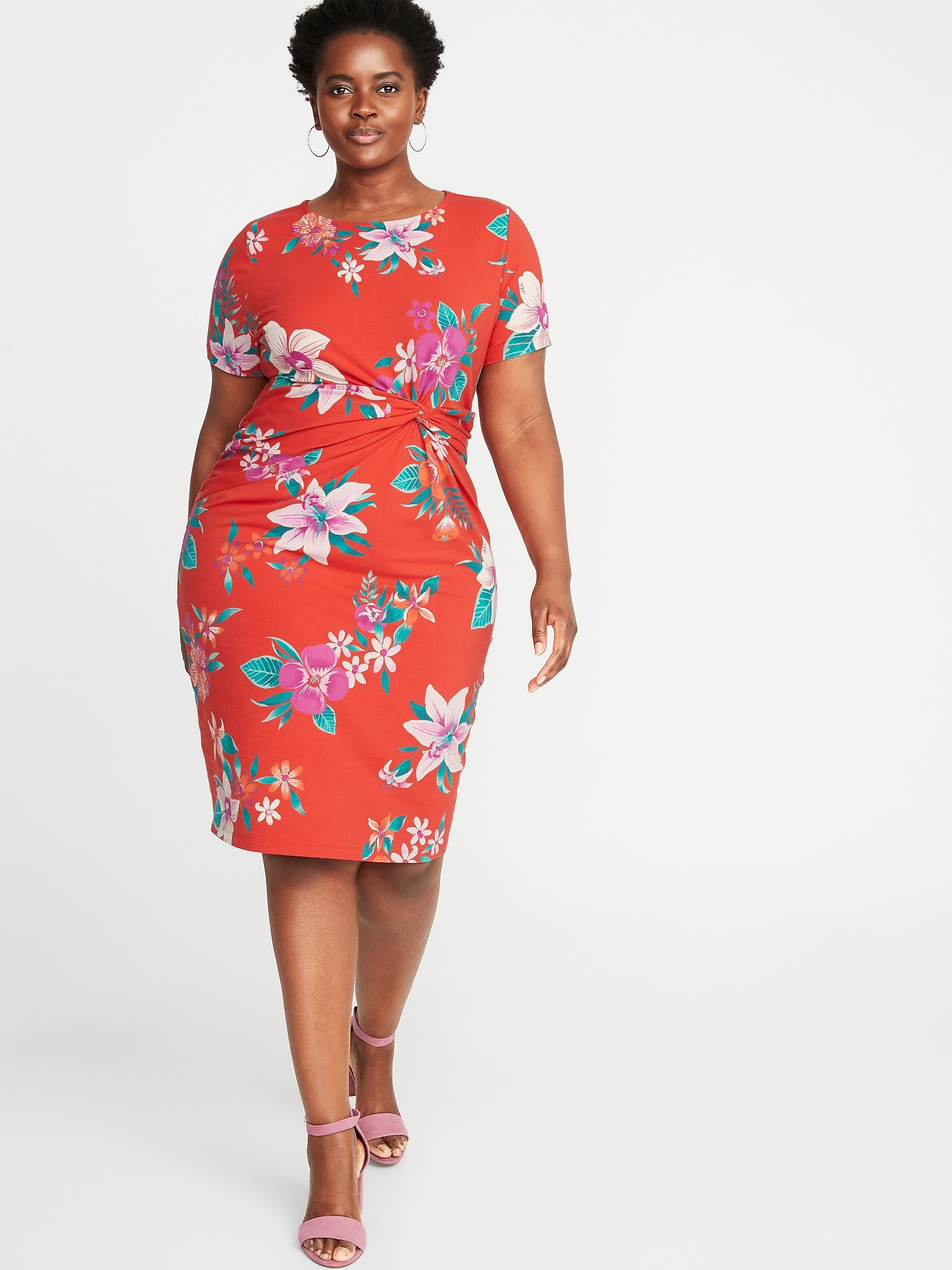 e8c3c47544c76 Plus-Size Twist-Front Bodycon Dress | Old Navy