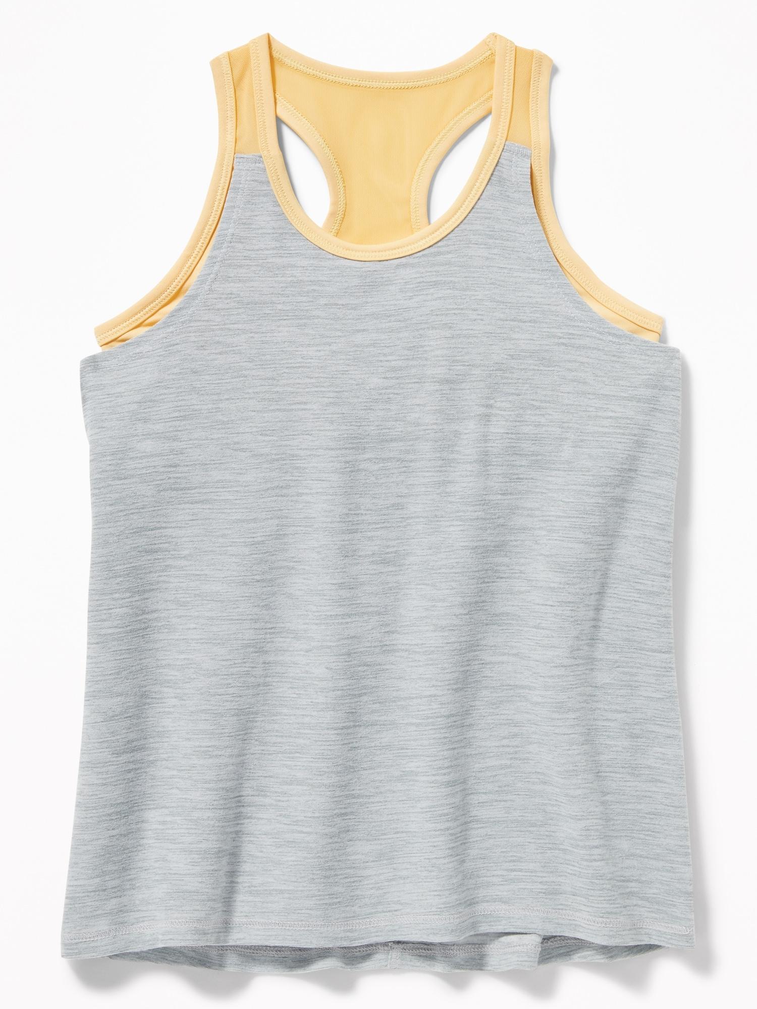 03440fe483 Breathe ON Go-Dry 2-in-1 Sports-Bra Tank for Girls
