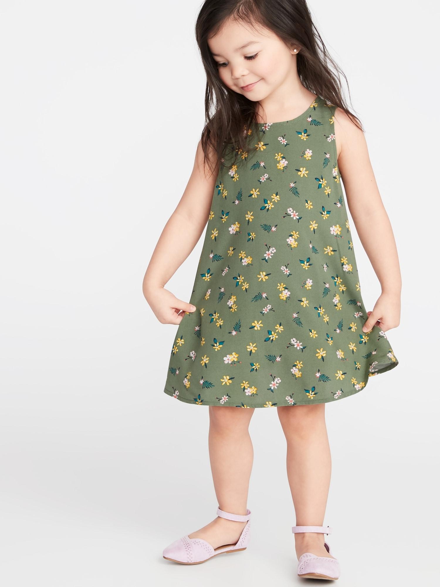 2586c4bfec830 Printed Sleeveless Swing Dress for Toddler Girls   Old Navy