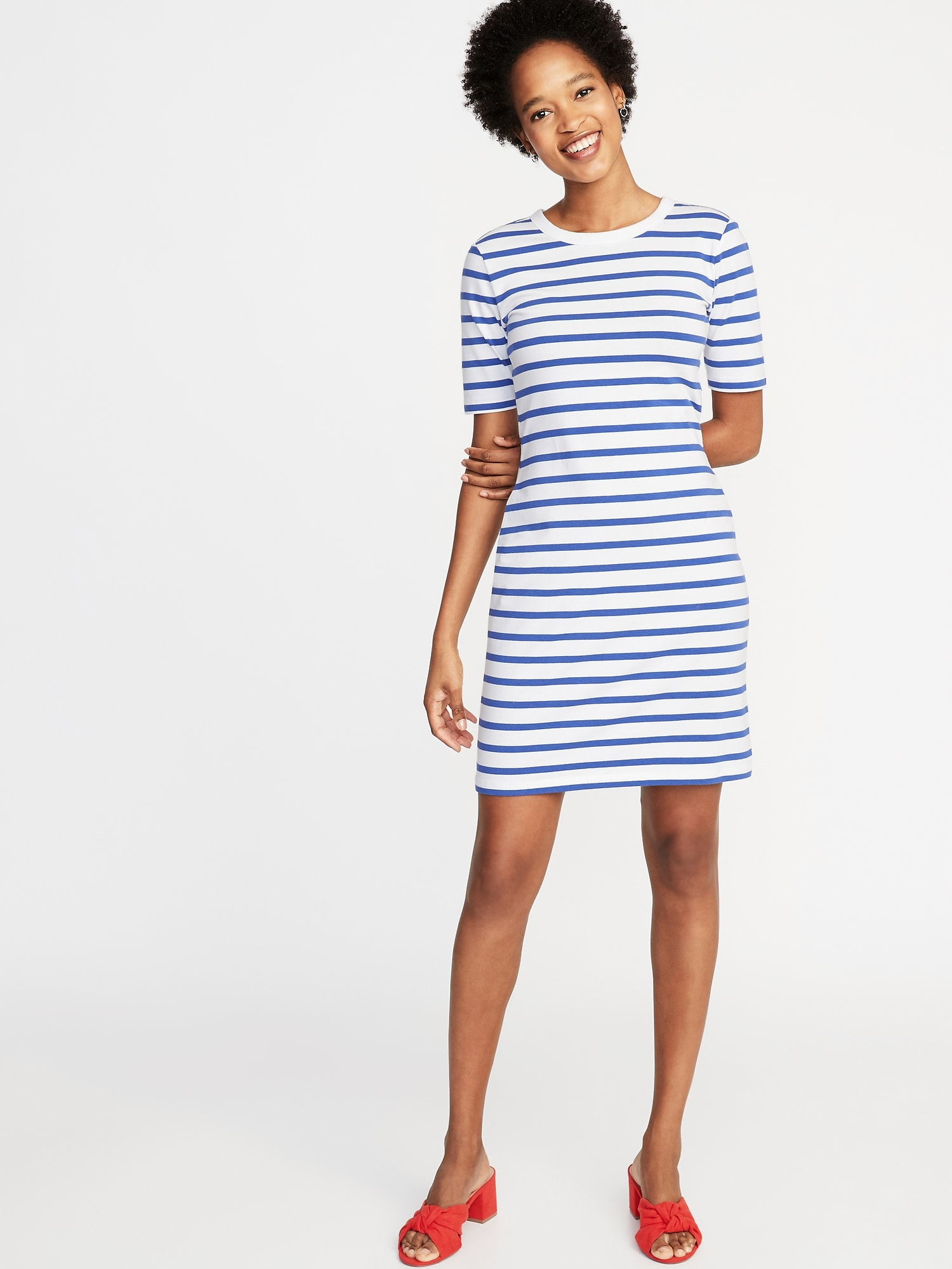 ccd9179921c Fitted Crew-Neck Tee Dress for Women