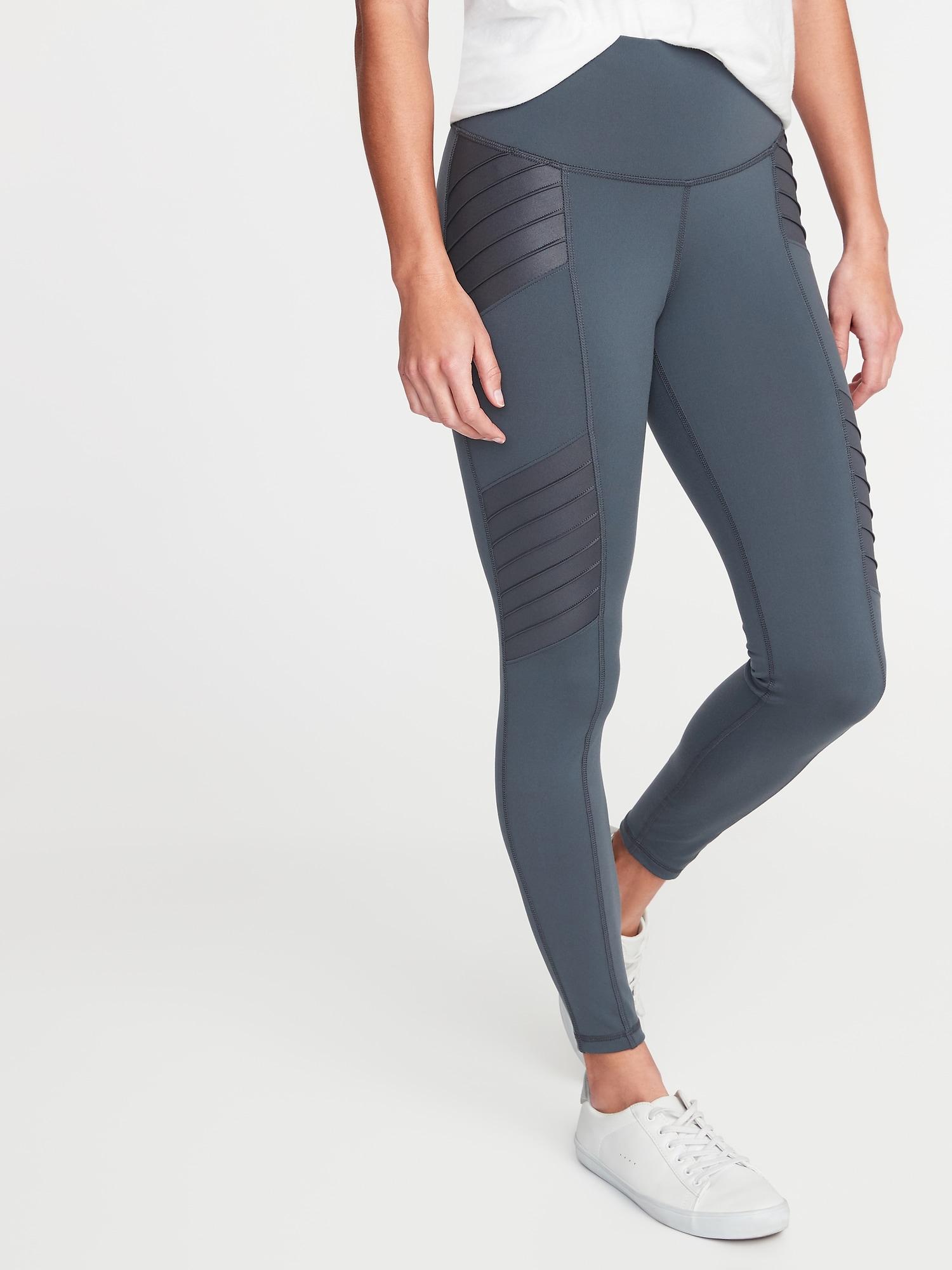 b638a890ad92a4 High-Rise Moto 7/8-Length Street Leggings for Women | Old Navy