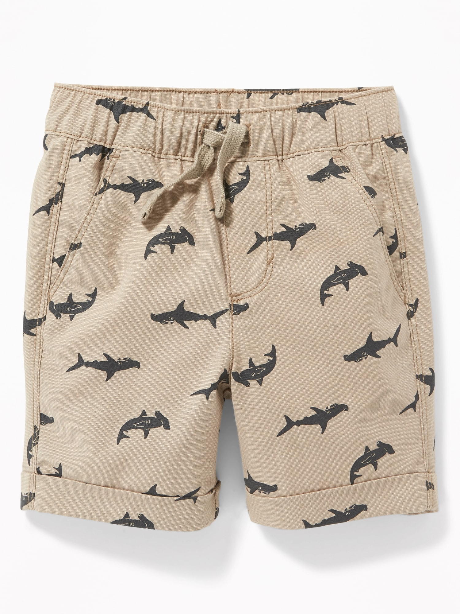 f8a5108743c Functional Drawstring Built-In Flex Pull-On Madras Shorts for Toddler Boys