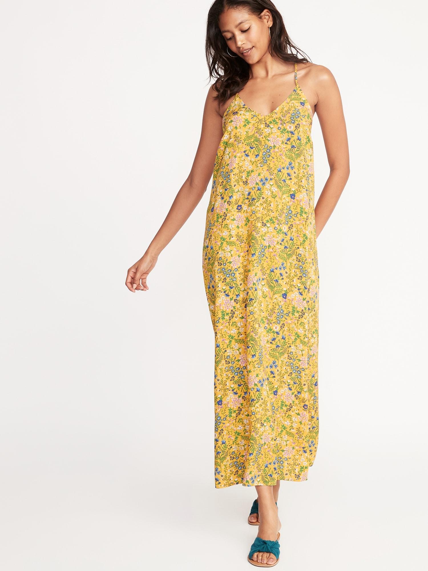 31dfc1f224b V-Neck Maxi Shift Dress for Women