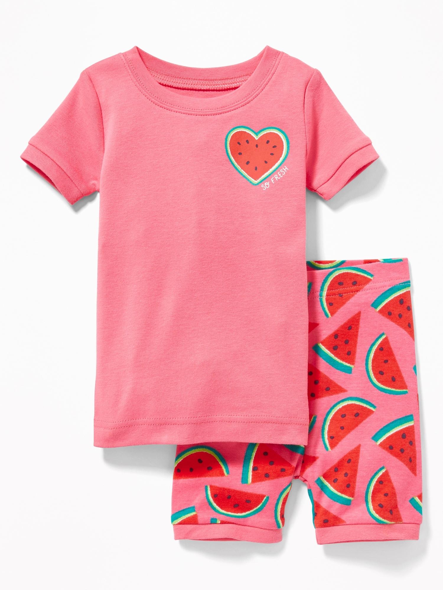 GAP Kids Disney Minnie Mouse Watermelon Shorts Pajamas 12