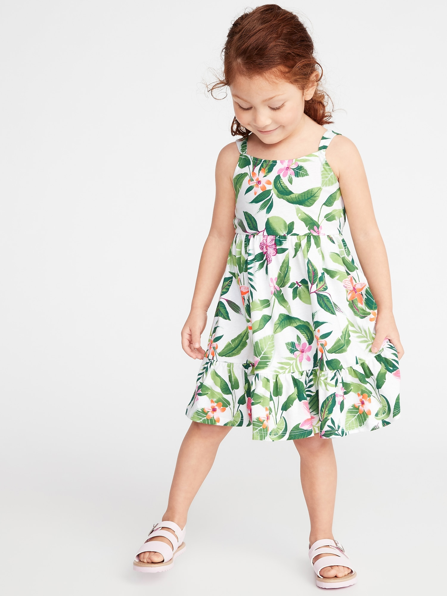 b68705f3a8d1c Printed Jersey Fit & Flare Dress for Toddler Girls | Old Navy