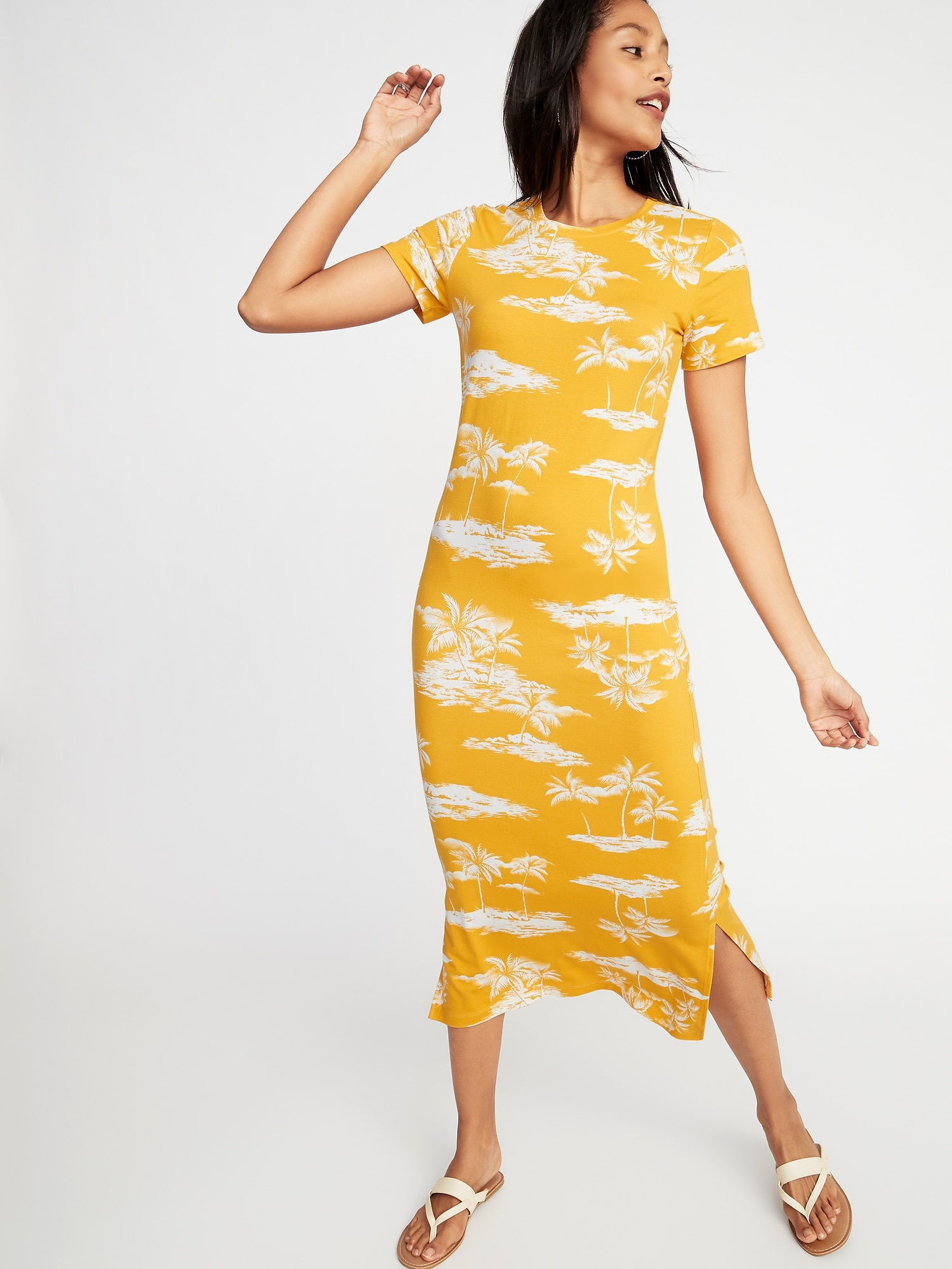 90bca670b Fitted Jersey Midi Tee Dress for Women | Old Navy