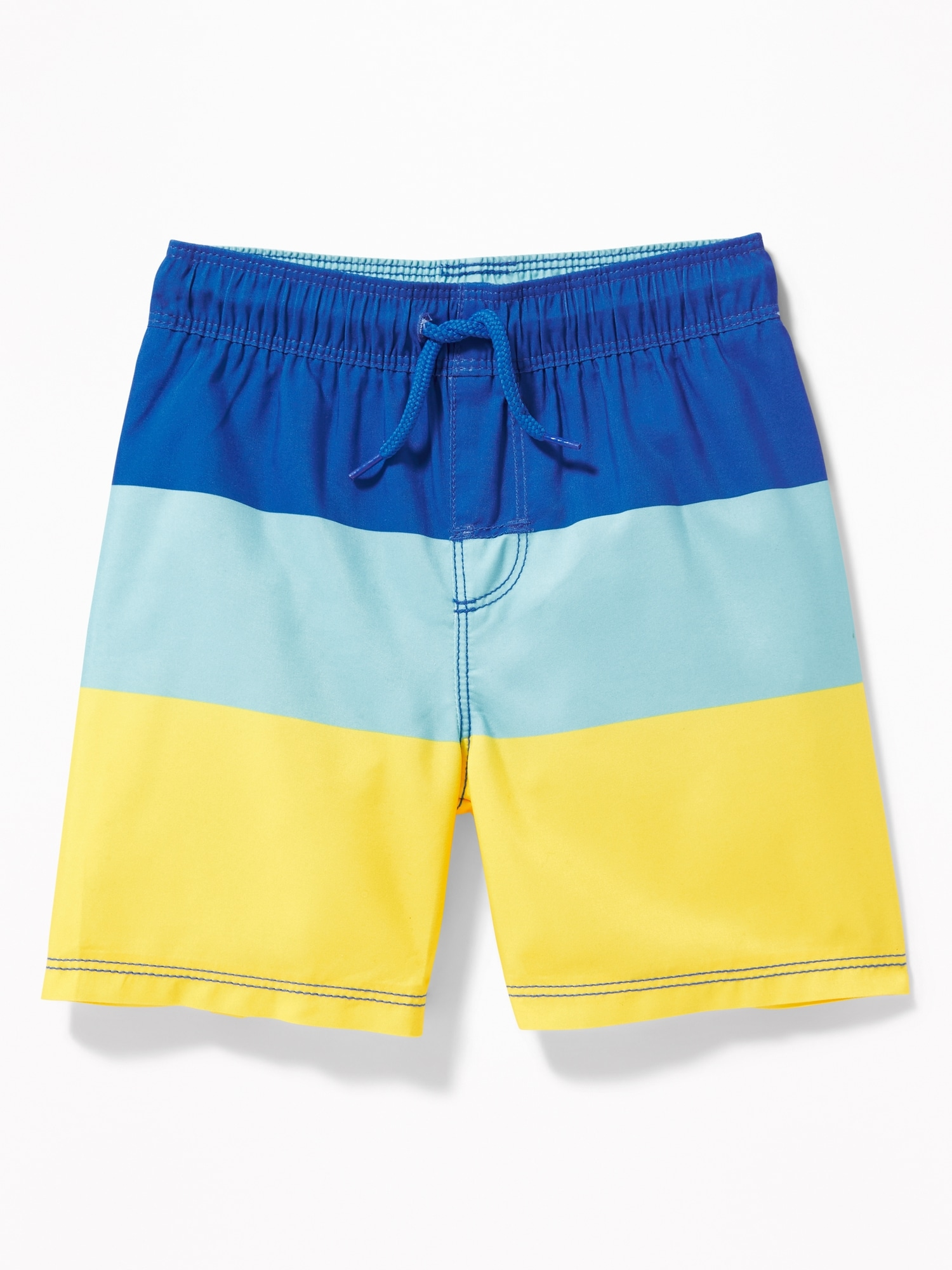 1f0959e0c9 Functional Drawstring Color-Blocked Swim Trunks for Toddler Boys ...