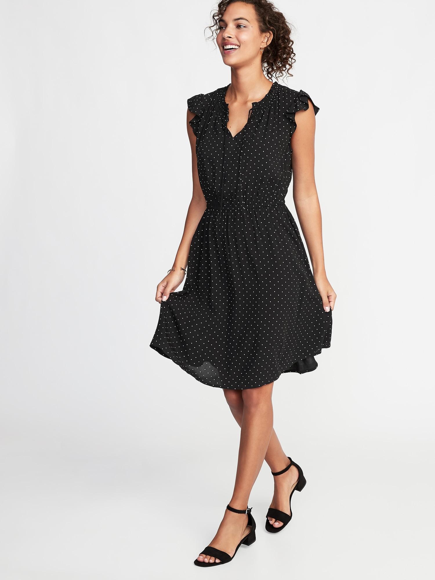 cf97262ca67 Waist-Defined Tie-Neck Dress for Women