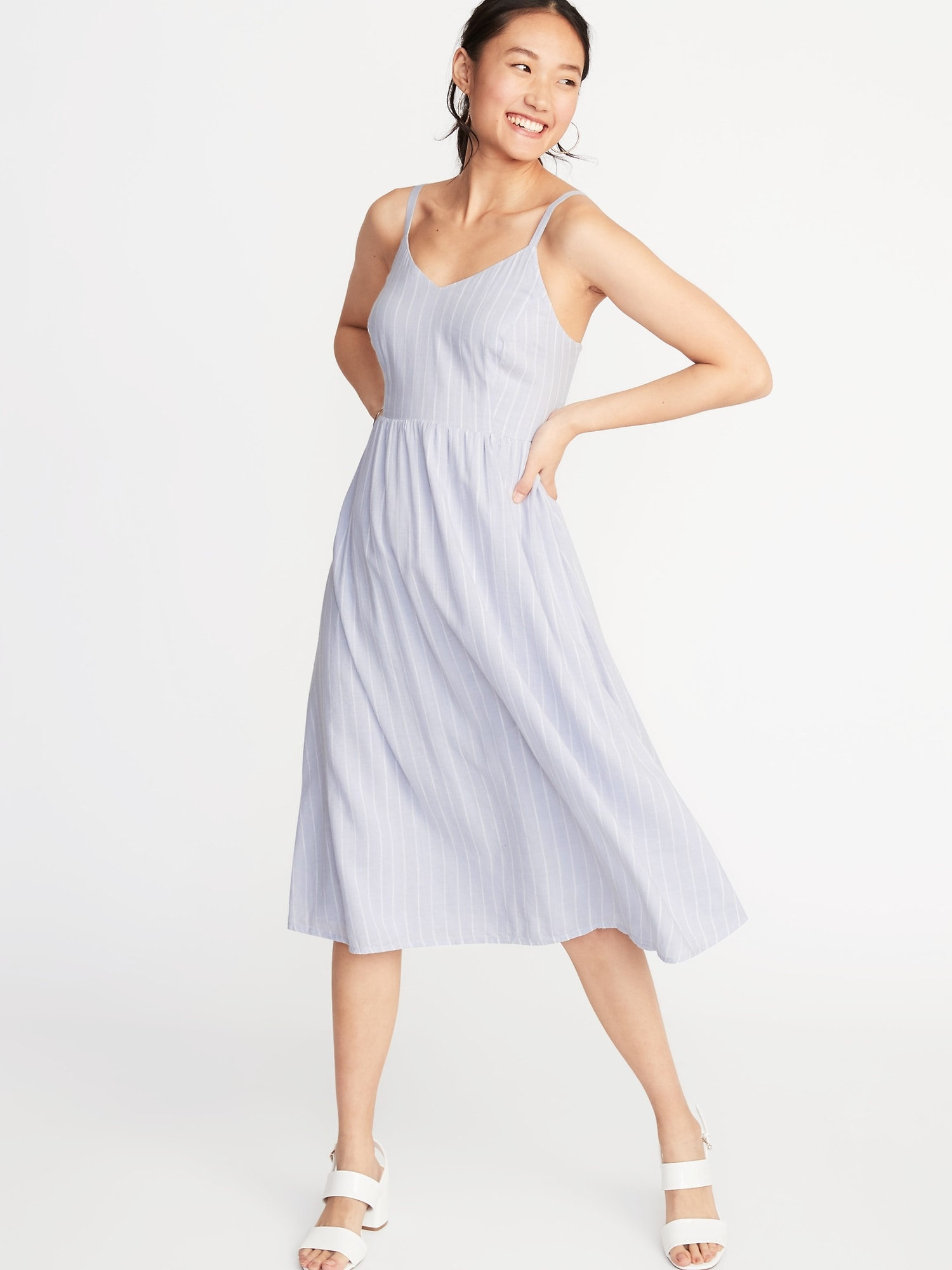 7bb6147aaf4 Fit   Flare Cami Midi Dress for Women