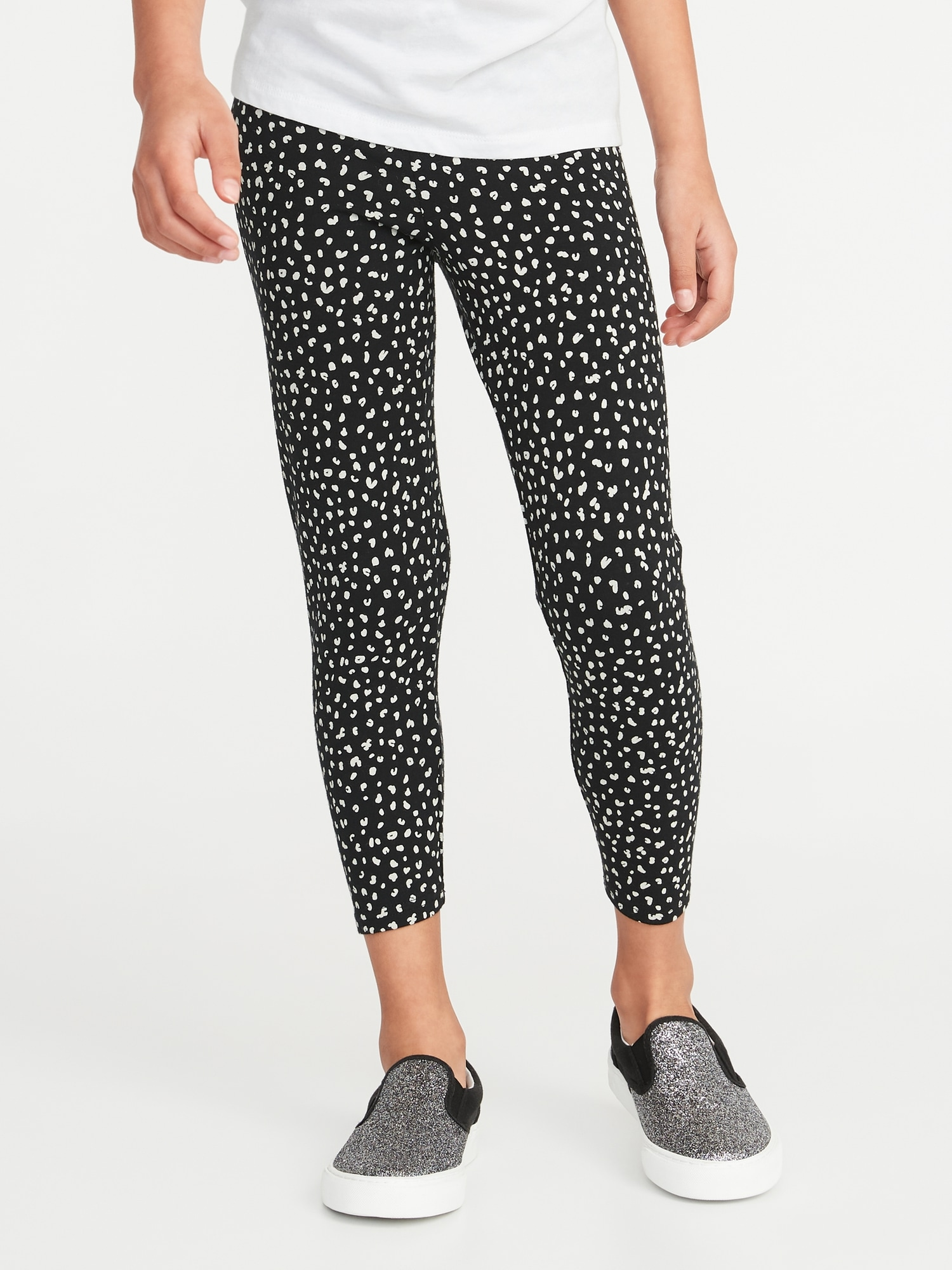 5853a26712ddc Printed Cropped Jersey Leggings for Girls | Old Navy