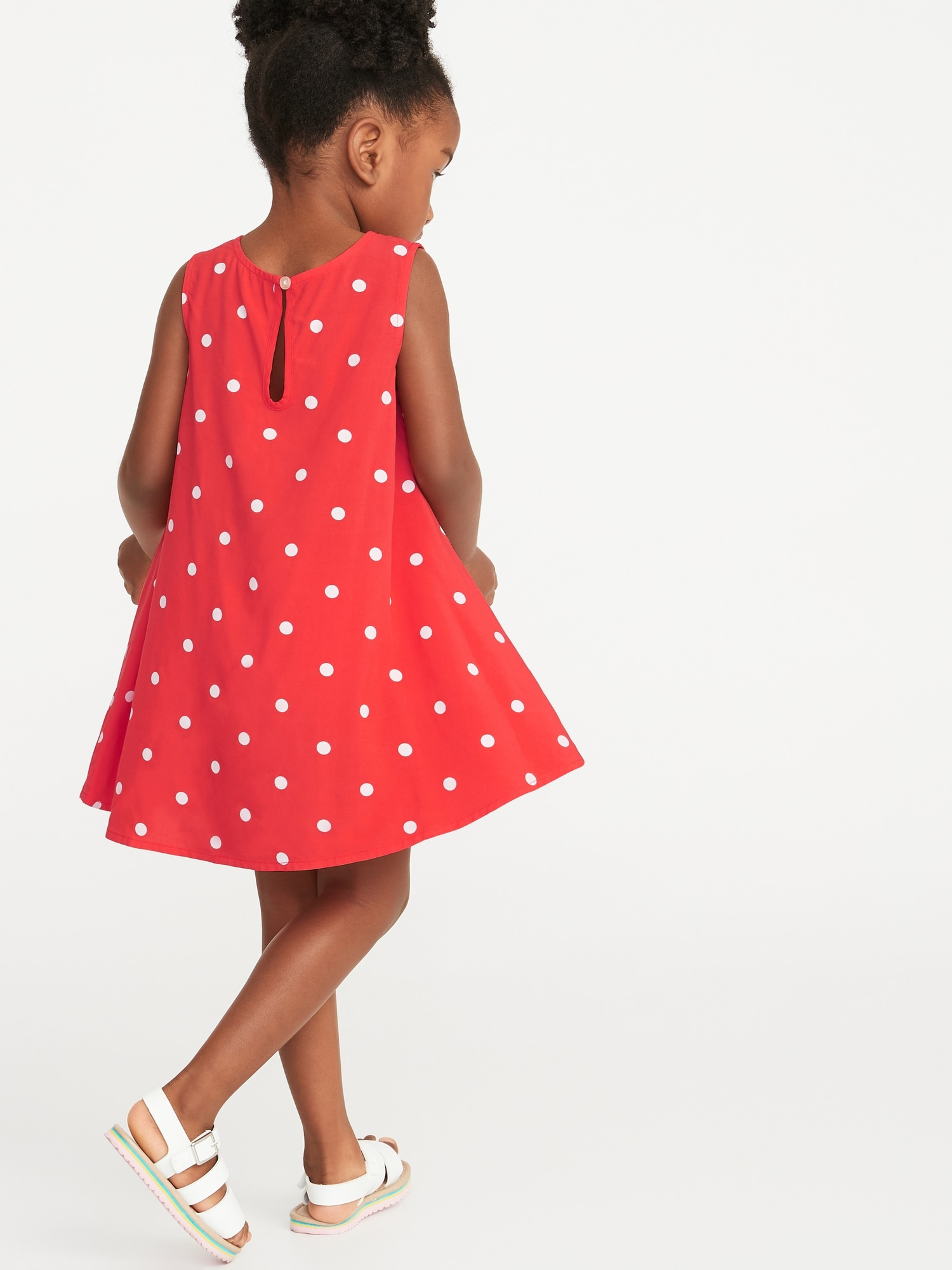 Girls' Clothing (newborn-5t) Girls Old Navy Dress 18-24 Months Infant Red Polka Dot Rayon Dress New Baby & Toddler Clothing