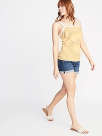 ab516862b2dc0 Semi-Fitted Rib-Knit Striped Tank for Women