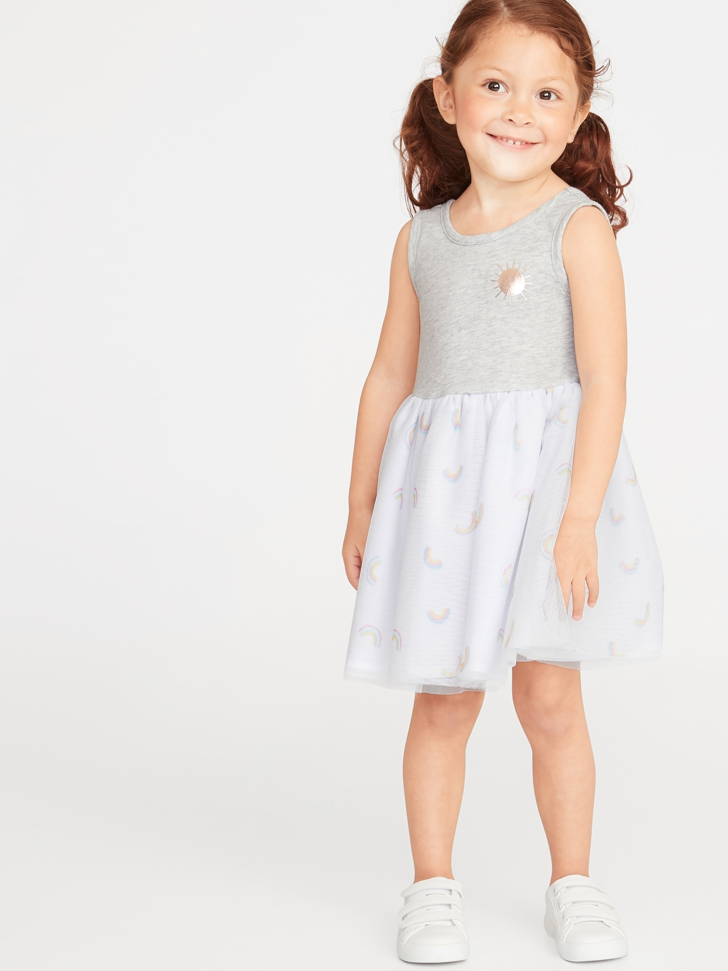 a88d838910 Printed Tutu Tank Dress for Toddler Girls