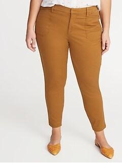 Mid-Rise Secret-Slim Pockets Plus-Size Pixie Utility Chinos