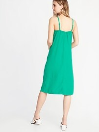 11aa0808eb7e Tie-Front Linen-Blend Midi Dress for Women | Old Navy