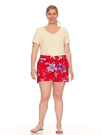 9665a7be61a Mid-Rise Printed Plus-Size Everyday Shorts - 5-inch inseam