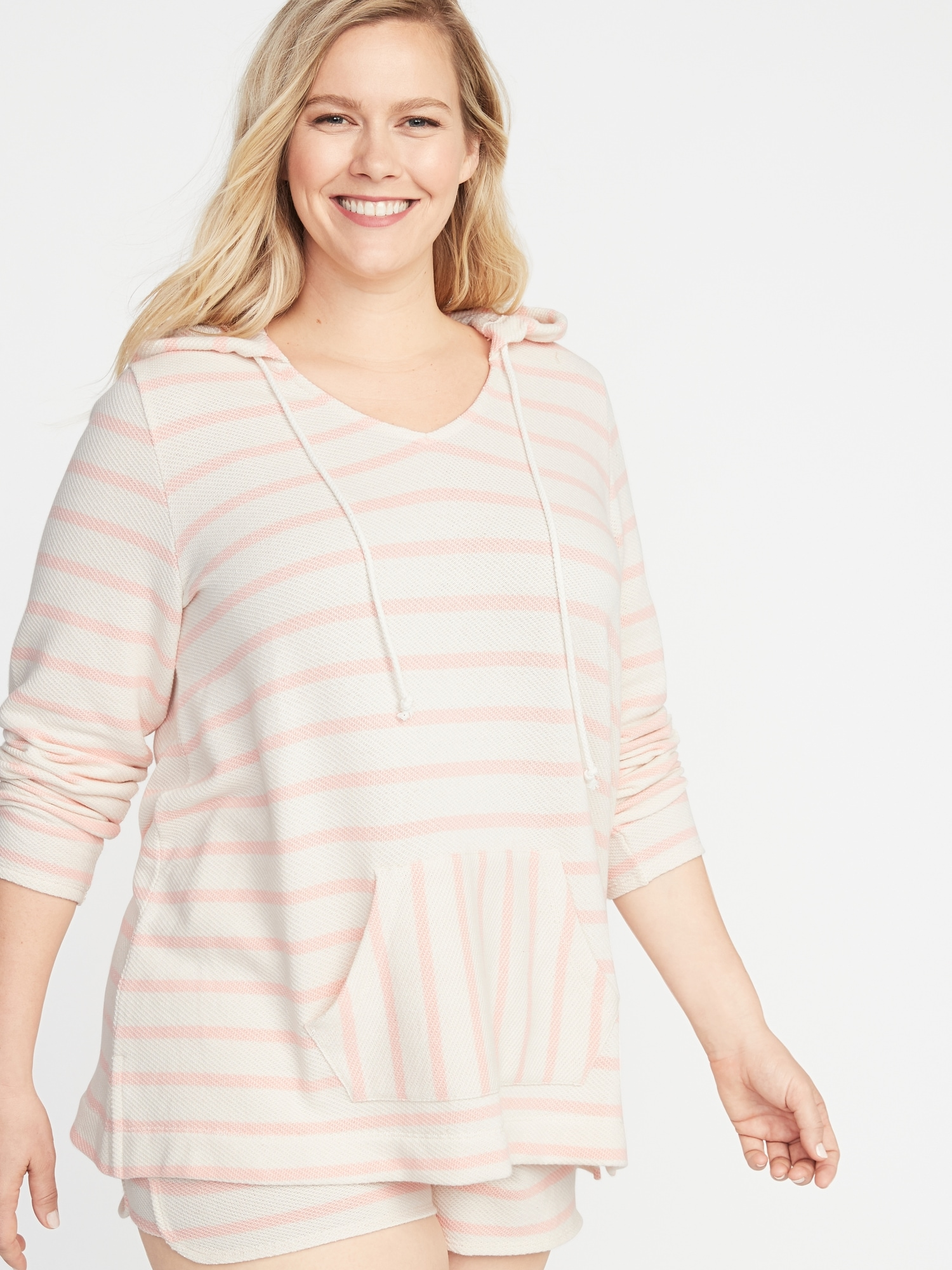 b9ffb433db7005 Striped French Terry Plus-Size Pullover Hoodie | Old Navy