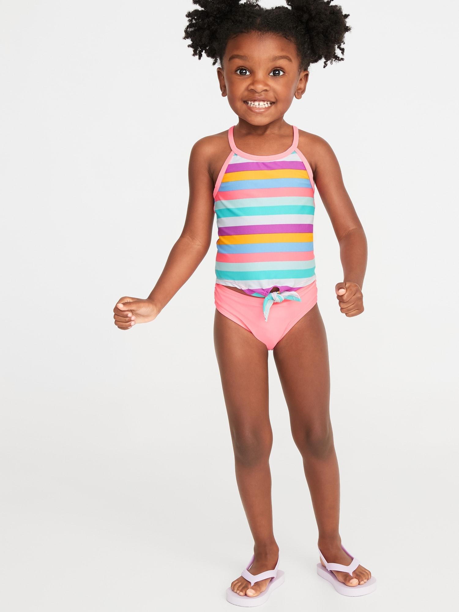 090cd61512967 Striped Tie-Hem Tankini Swim Set for Toddler Girls | Old Navy