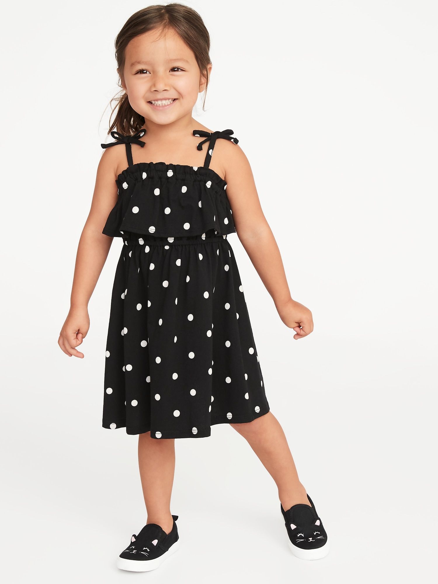 228d13f82dc31 Printed Jersey Ruffled Fit & Flare Dress for Toddler Girls | Old Navy