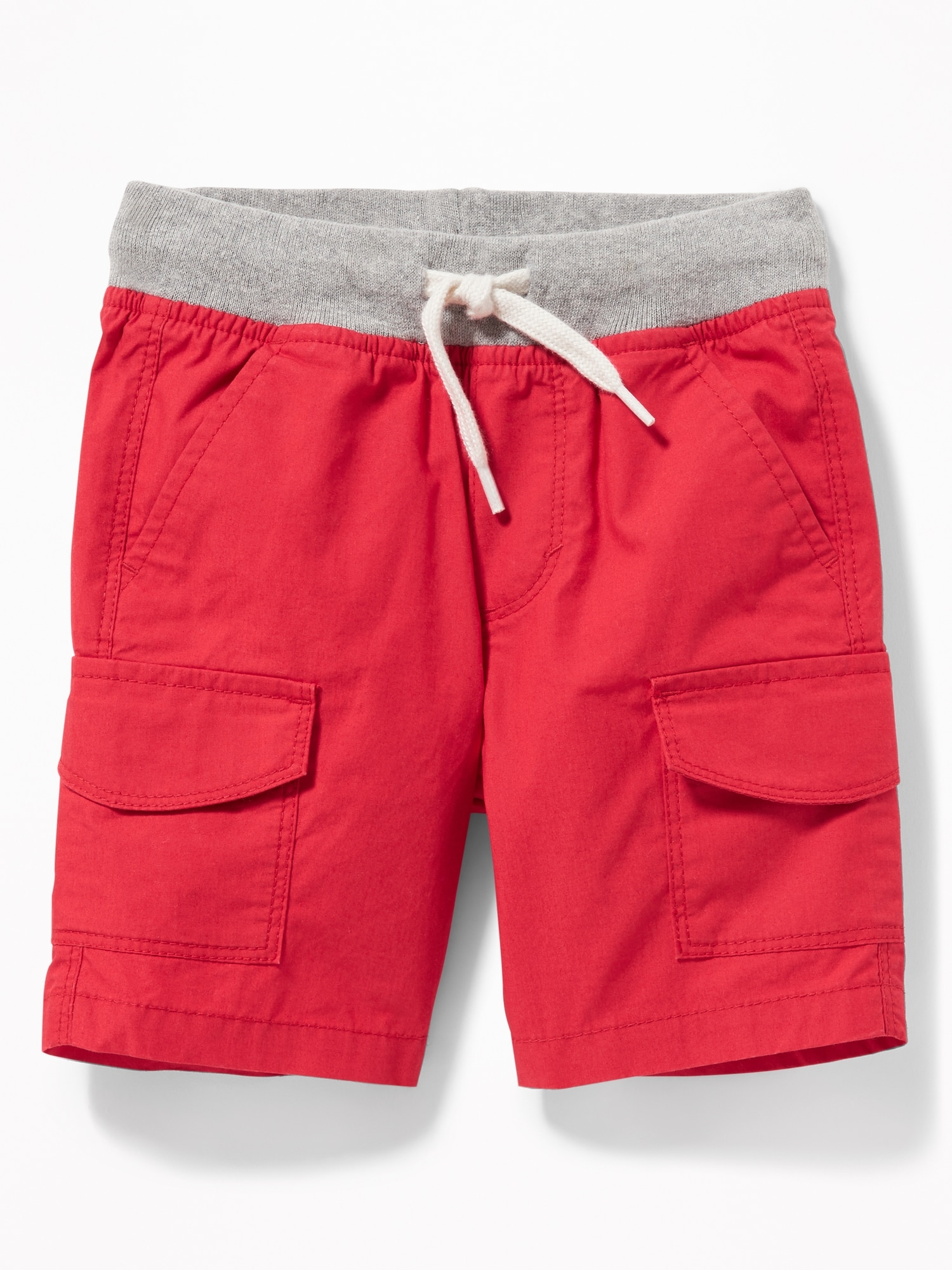 d536eb4d75 Functional Drawstring Rib-Knit Waist Cargo Shorts for Toddler Boys ...