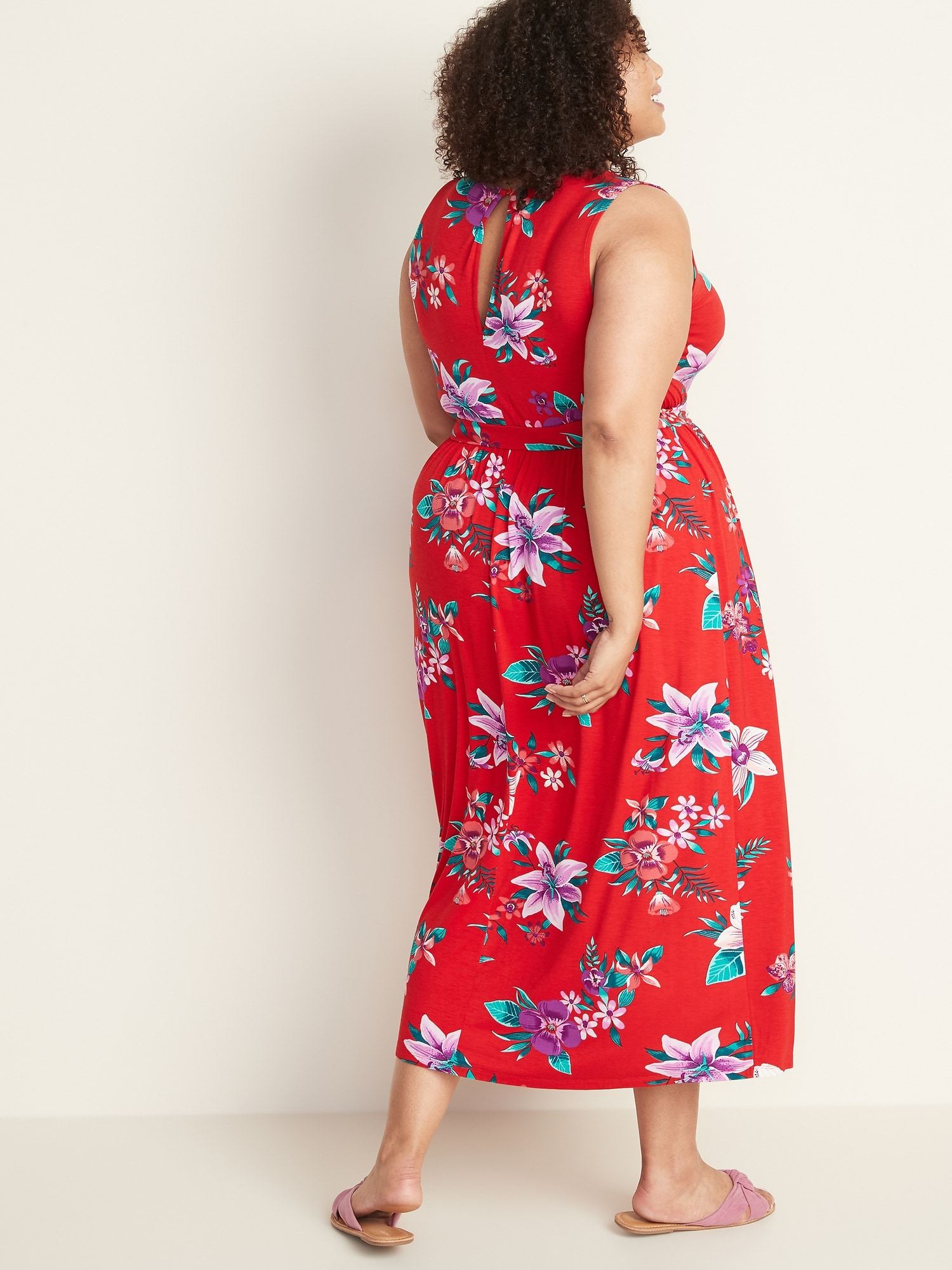 Waist-Defined Plus-Size Jersey Maxi | Old Navy