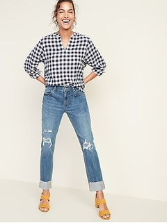 6e711c798e product recommendations. Mid-Rise Distressed Boyfriend Straight Jeans for  Women. product recommendations. High-Rise Secret-Slim Pockets ...