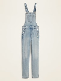 Distressed Jean Overalls for Women