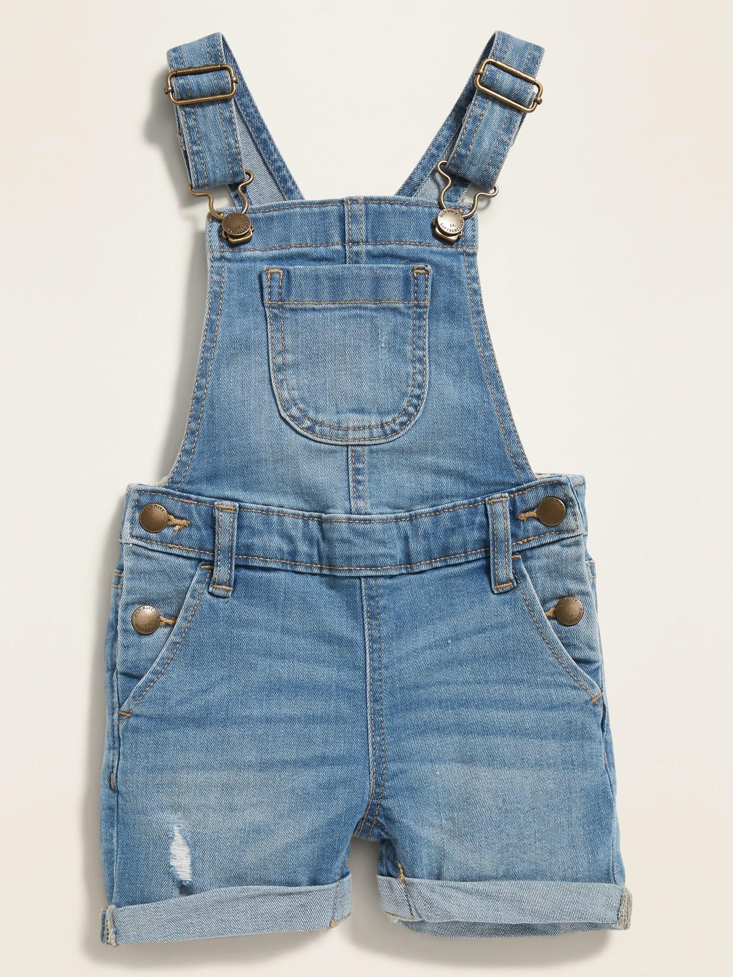 eeaf166374329 Cuffed Denim Shortalls for Toddler Girls | Old Navy