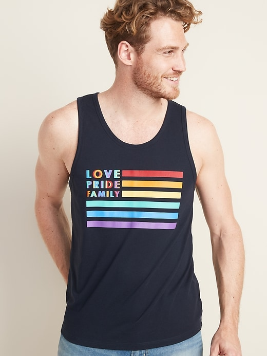 "2019 Pride ""Love Pride Family"" Tank For Men"