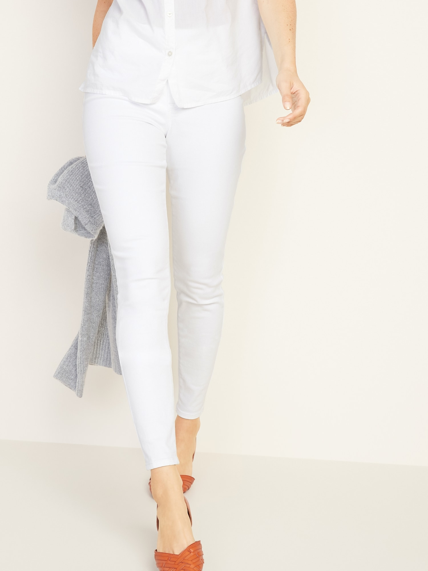 f702ecb665697 Mid-Rise White Rockstar Pull-On Jeggings for Women | Old Navy