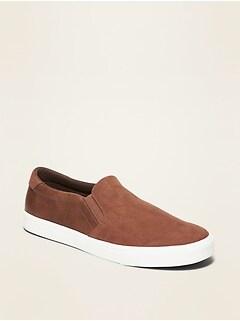 Chaussures à enfiler en similicuir et faux suède pour homme