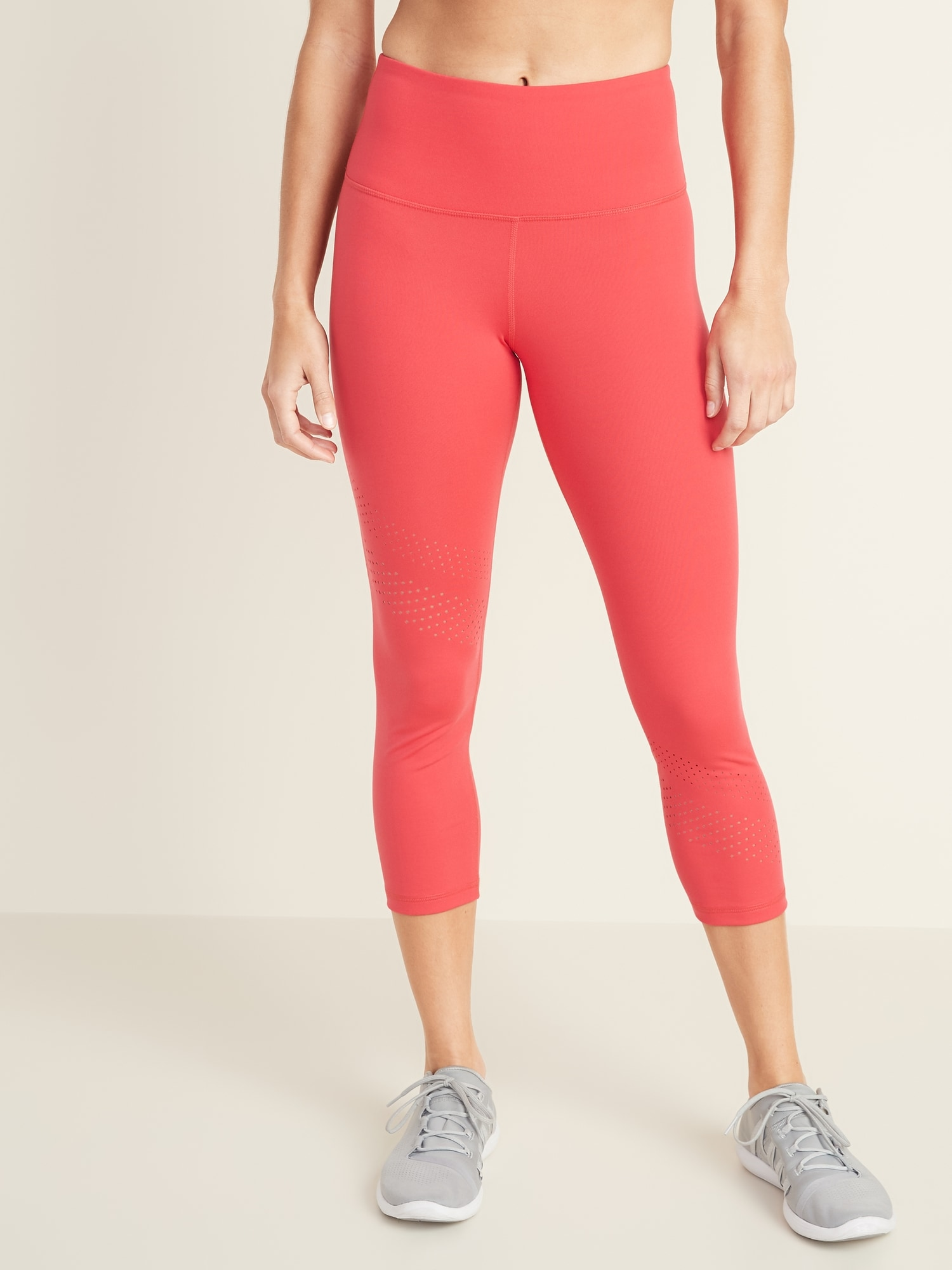 a0a104cca83581 High-Rise Elevate Laser-Cut Compression Crops for Women | Old Navy