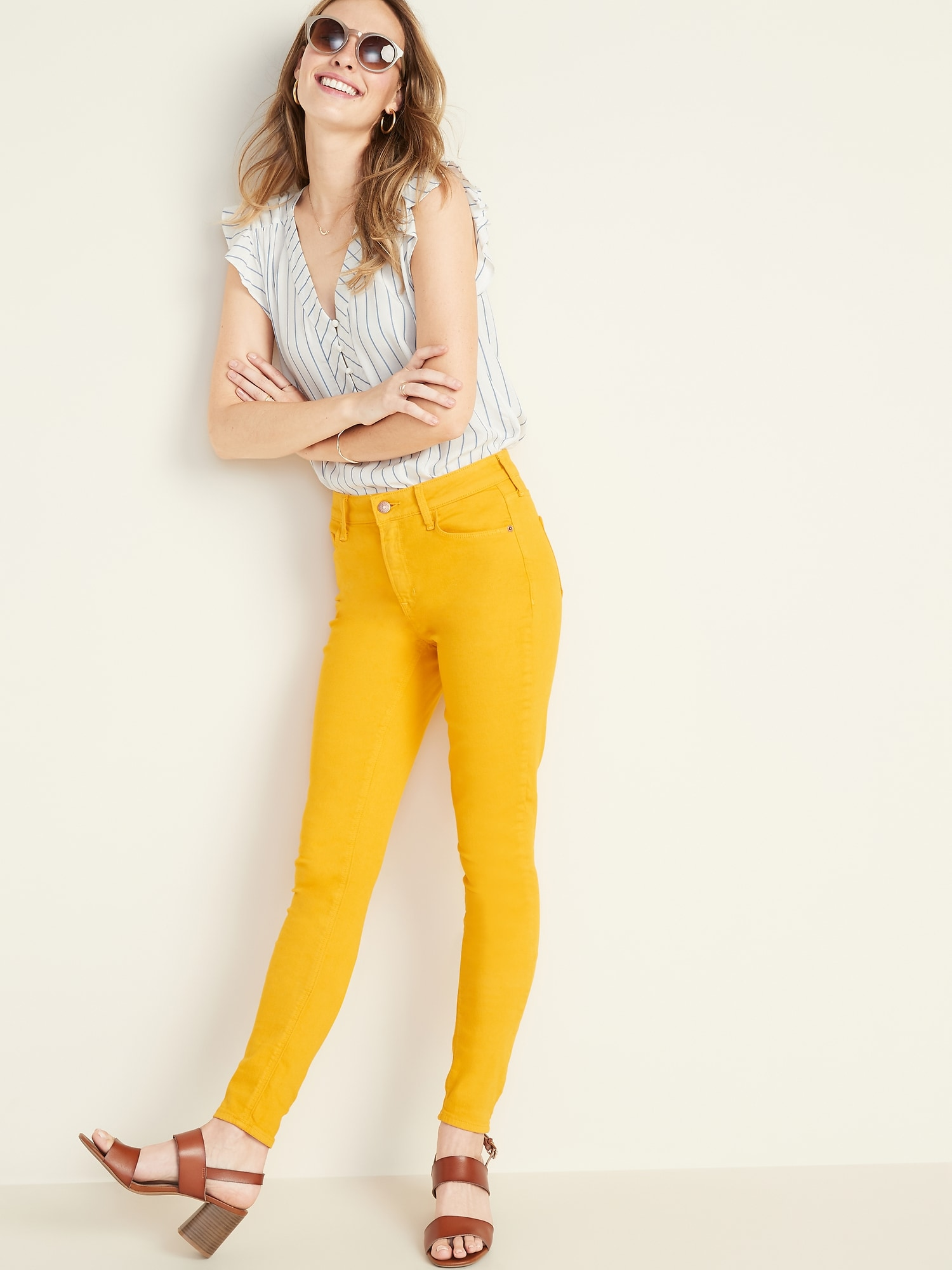 7cc10508bb Mid-Rise Rockstar Super Skinny Pop-Color Jeans for Women | Old Navy