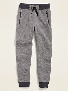 Gender-Neutral Zip-Pocket Jogger Sweatpants for Kids