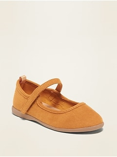 Chaussures Mary-Jane en faux suède pour toute-petite fille