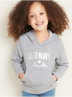 Logo-Graphic Pullover Hoodie for Toddler Girls