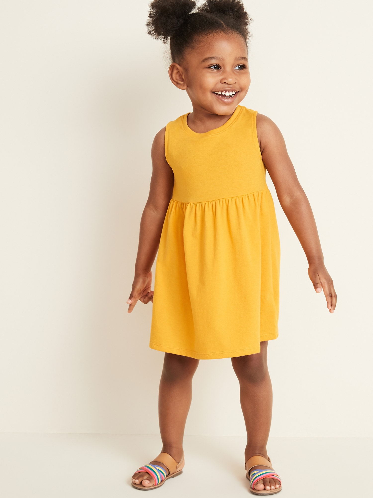 da4a0fa03 Sleeveless Fit & Flare Dress for Toddler Girls | Old Navy