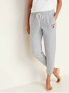 Logo-Graphic French-Terry Joggers for Women