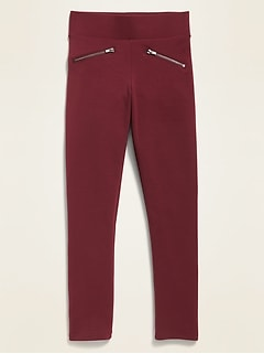 High-Waisted Zip Faux-Pocket Stevie Pants For Girls