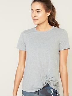 T-shirt Performance décontacté avec lien sur le côté pour femme