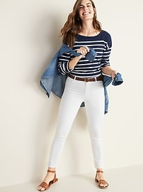 White Super Skinny Ankle Jeans for Women