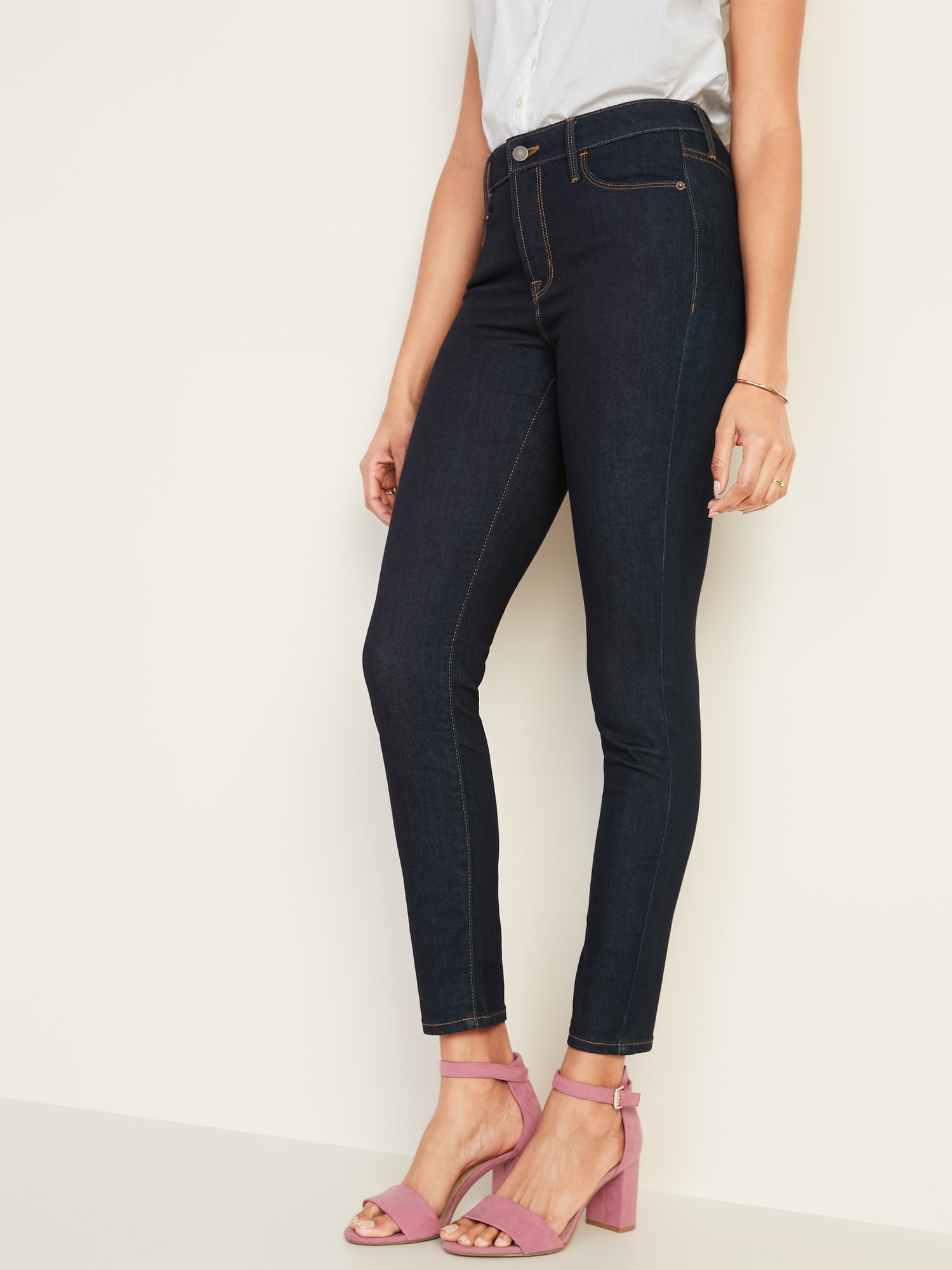 d6942f42440 High-Rise Secret-Slim Pockets Rockstar Super Skinny Jeans for Women ...