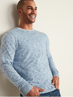Everyday Space-Dyed Crew-Neck Sweater for Men