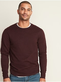Everyday Heathered Crew-Neck Sweater for Men